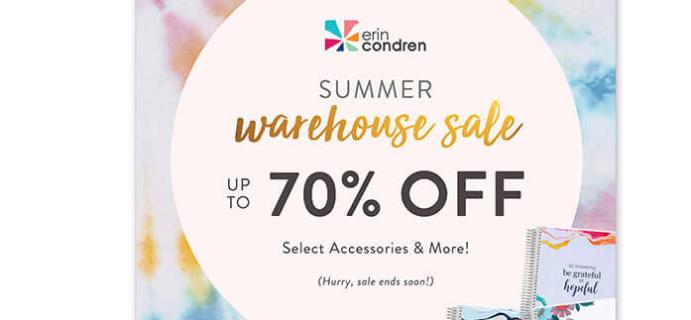 Erin Condren Summer 2020 Warehouse Sale: Save up to 70%!