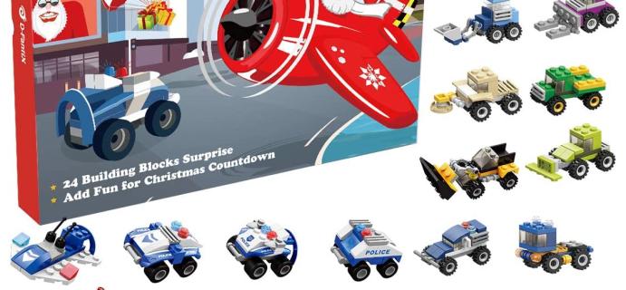D-FantiX Building Vehicles Advent Calendar: 24 Vehicle Building Kits!