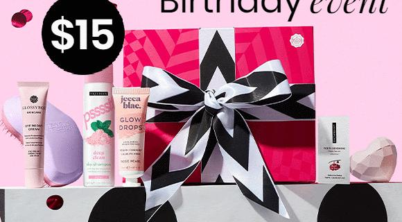 GLOSSYBOX Birthday Flash Sale: First Box $15!