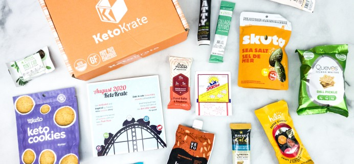 KetoKrate August 2020 Subscription Box Review + Coupon