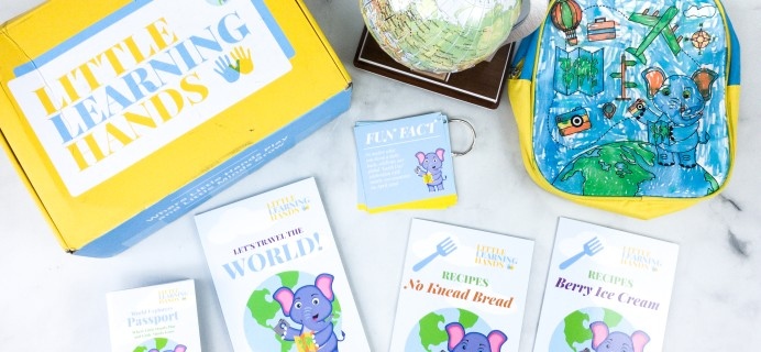 Little Learning Hands Subscription Box Review – Intro World Explorers Global Kit