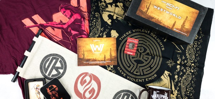Loot Sci-Fi by Loot Crate July 2020 Subscription Box Review + Coupon – WESTWORLD
