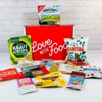 Love With Food August 2020 Deluxe Box Review + Coupon!
