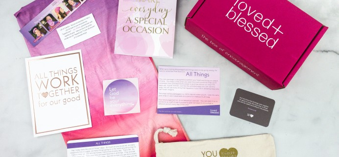 Loved+Blessed September 2020 Subscription Box Review + Coupon