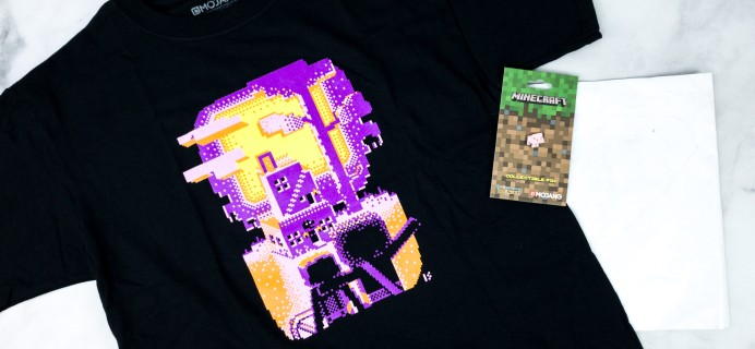 Minecraft T-Shirt Club July 2020 Review