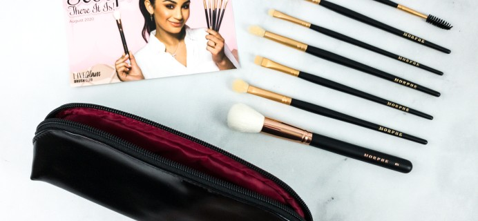 LiveGlam Brush Club August 2020 Subscription Box Review + Free Brush Coupon!