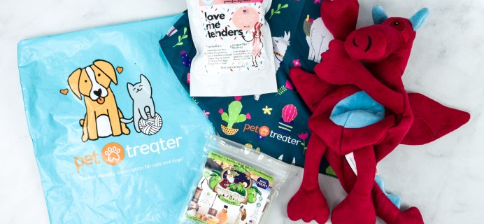 Pet Treater Dog Pack July 2020 Subscription Box Review + Coupon