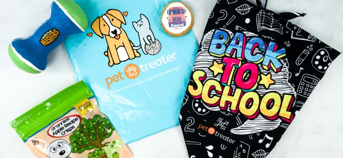 Pet Treater Dog Pack August 2020 Subscription Box Review + Coupon
