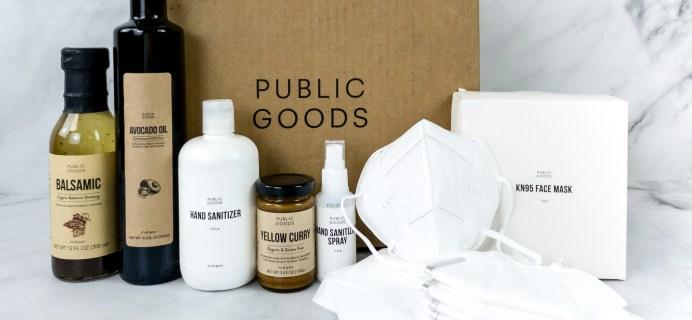 Public Goods Subscription Box Review + Coupon – August 2020