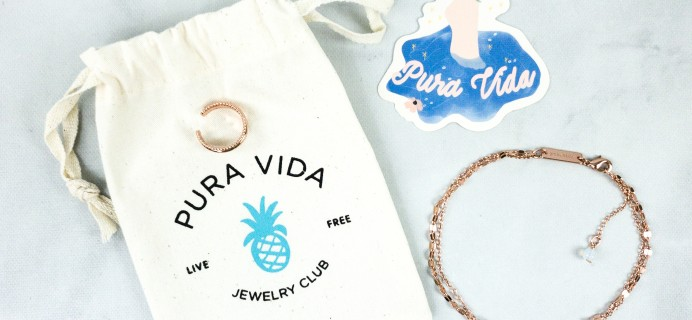 Pura Vida Jewelry Club July 2020 Subscription Box Review + Coupon!