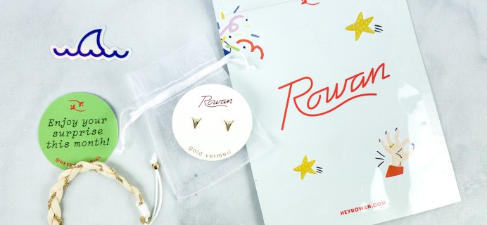 Rowan Earring Club August 2020 Subscription Box Review
