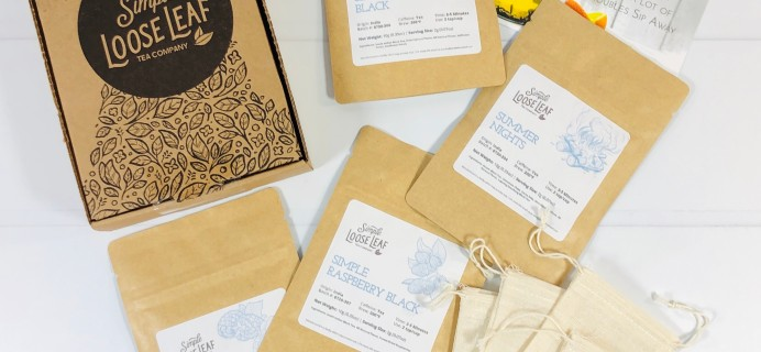 Simple Loose Leaf Tea August 2020 Subscription Box Review + Coupon!