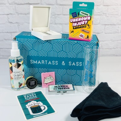 Smartass & Sass Box August 2020 Subscription Box Review + Coupon