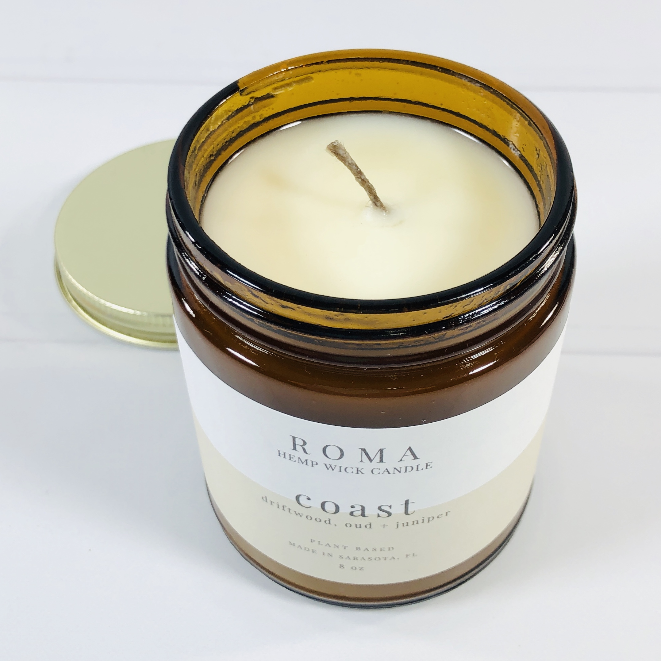 Garden scent Roma Soy Wax Candle Handmade Candle  Glass Jar Candle Lemongrass Basil Rosemary Tomato Leaf