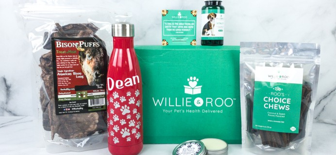 Willie & Roo August 2020 Subscription Box Review + Coupon