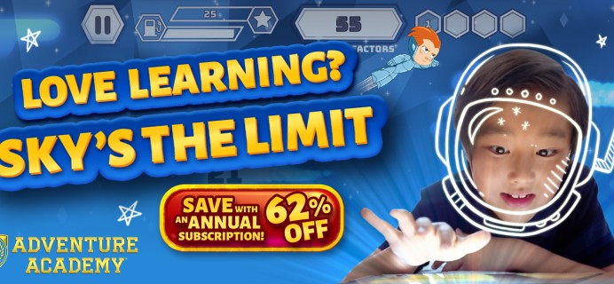 EXTENDED Adventure Academy Labor Day Sale: Get 1 Year of Adventure Academy for $45 – 62% Off!