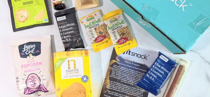 FitSnack August 2020 Subscription Box Review