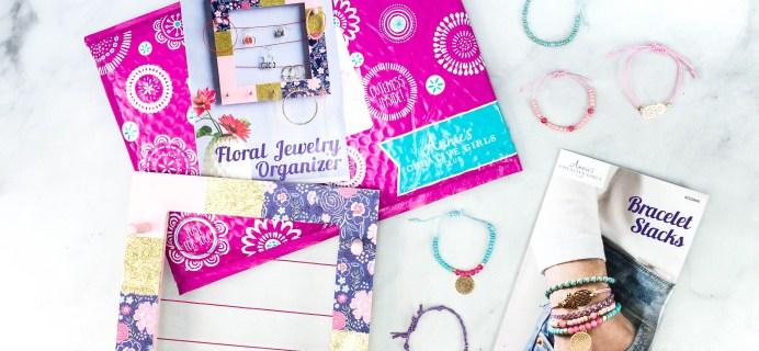 Annie's Creative Girls Club Braceles + Jewelry Organizer Review + 80% Off Coupon