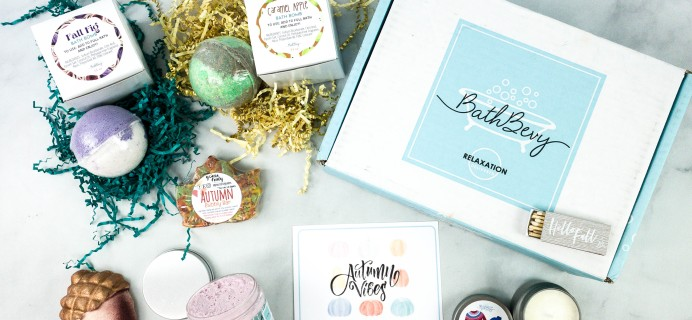 Bath Bevy September 2020 Subscription Box Review + Coupon
