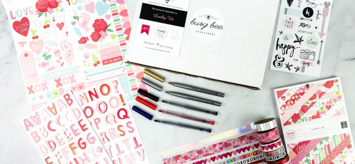 Busy Bee Stationery September 2020 Subscription Box Review