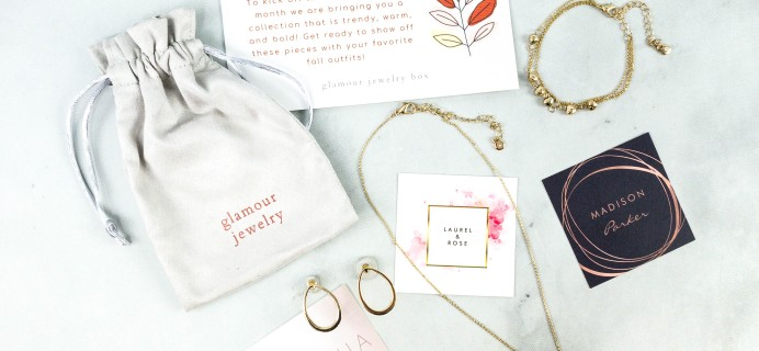 Glamour Jewelry Box September 2020 Subscription Box Review + Coupon