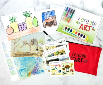 I Create Art Kit Subscription Box Review + Coupon – POSTAGE STAMP ARTIST