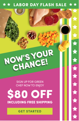 Green Chef Labor Day Sale: Save Up To $80 + FREE Shipping!