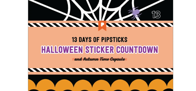 2020 Pipsticks Halloween Advent Calendar Available Now!