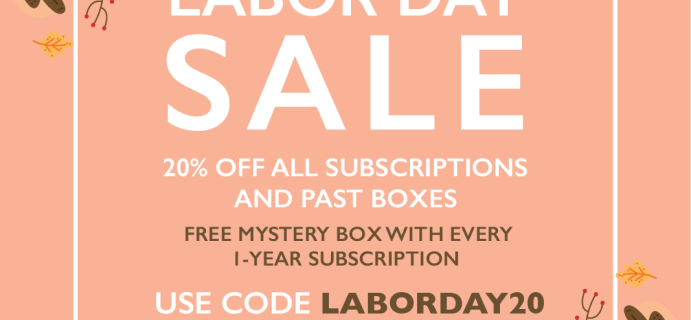 Cocotique Labor Day Sale: FREE Box + 20% Off All New Subscriptions & Past Boxes!