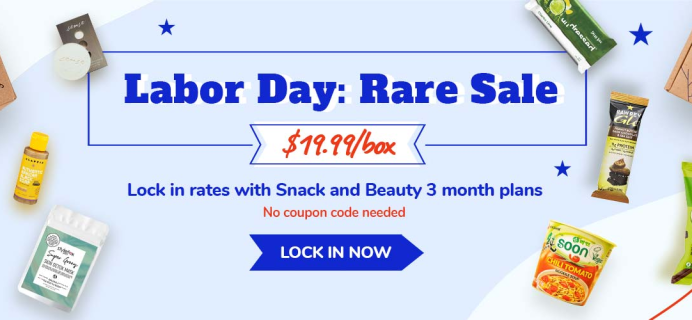 Vegancuts Labor Day Sale: Get 3-Month Snack or Beauty Box For Just $19.99 Each Box!
