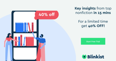 Blinkist Coupon: Get 40% Off!