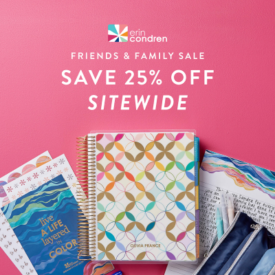 Erin Condren Friends & Family Sale: Get 25% Off Sitewide!