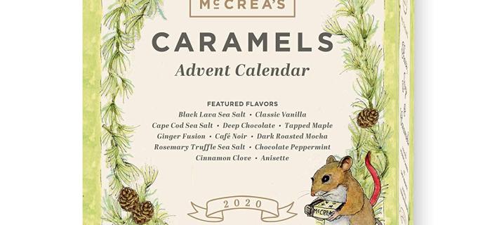 2020 McCrea's Caramel Advent Calendar Available Now!