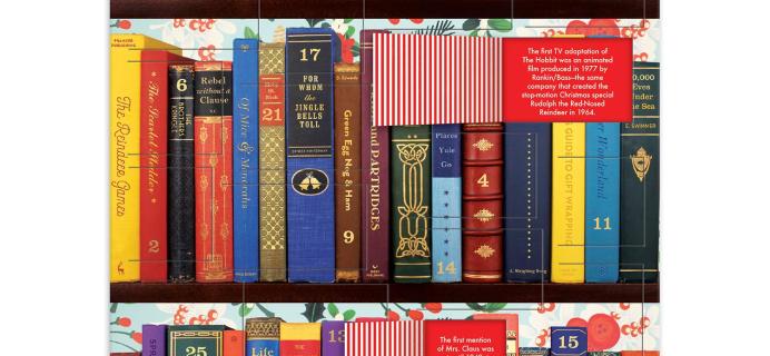 2020 Galison Festive Bookshelf Advent Calendar Available Now + Full Spoilers!