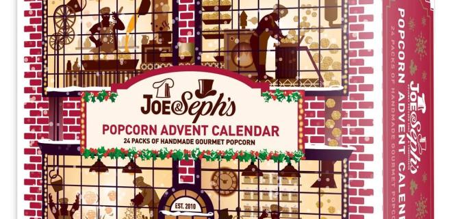 2020 Joe & Seph's Gourmet Popcorn Advent Calendar Available Now + Full Spoilers!