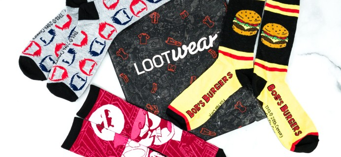 Loot Socks by Loot Crate February 2020 Subscription Box Review & Coupon