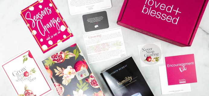 Loved+Blessed October 2020 Subscription Box Review + Coupon