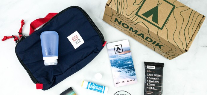 Nomadik November 2020 Subscription Box Review + Coupon