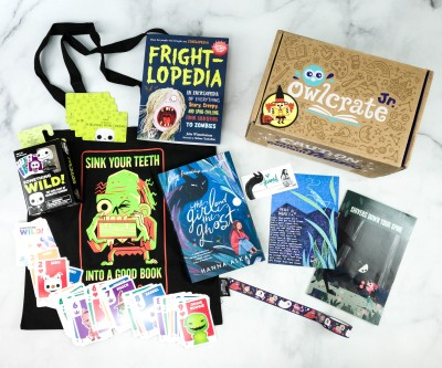 OwlCrate Jr. September 2020 Box Review & Coupon – SHIVERS DOWN YOUR SPINE!