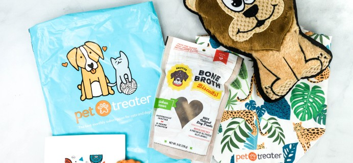 Pet Treater Dog Pack September 2020 Subscription Box Review + Coupon