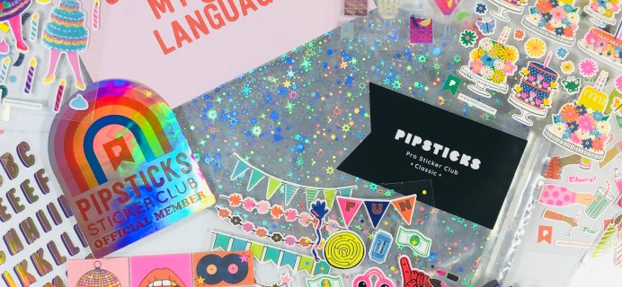 Pipsticks Pro Club Classic September 2020 Subscription Box Review + Coupon!