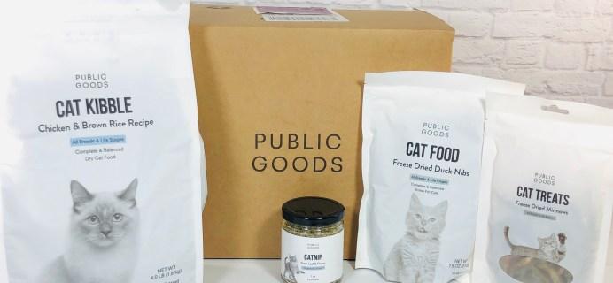 Public Goods Subscription Box Review + Coupon – September 2020 CAT BUNDLE