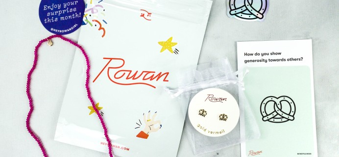 Rowan Earring Club September 2020 Subscription Box Review