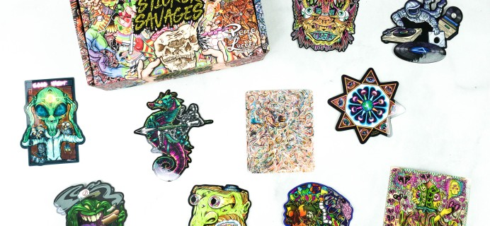 Sticker Savages September 2020 Subscription Box Review + Coupon