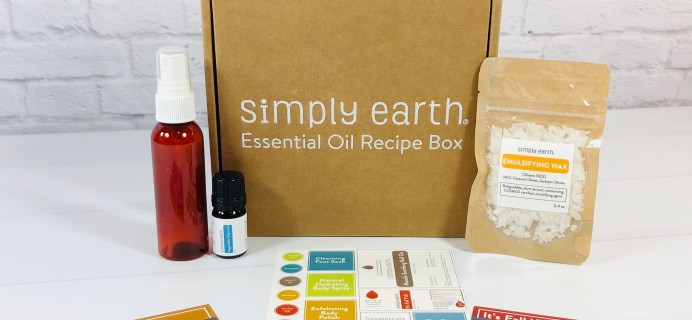 Simply Earth October 2020 Subscription Box Review + Coupons