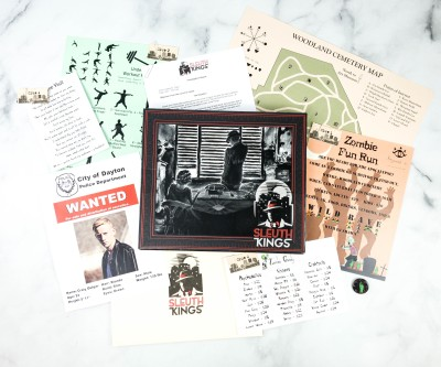 Sleuth Kings Subscription Box Review + Coupons – Case 203 THE CURE