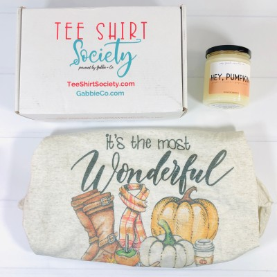 Tee Shirt Society by Gabbie + Co. September 2020 Subscription Box Review