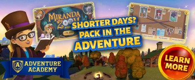 Adventure Academy Fall Sale: Get 1 Year of Adventure Academy for $45 – 62% Off!