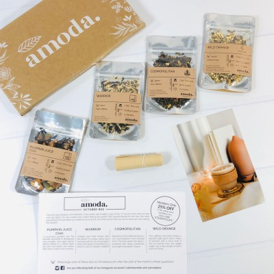 Amoda Tea October 2020 Subscription Box Review + Coupon!
