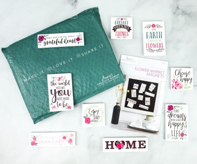 Annie's Creative Woman Kit-of-the-Month Club Review + Coupon – FLOWER MARKET MAGNETS